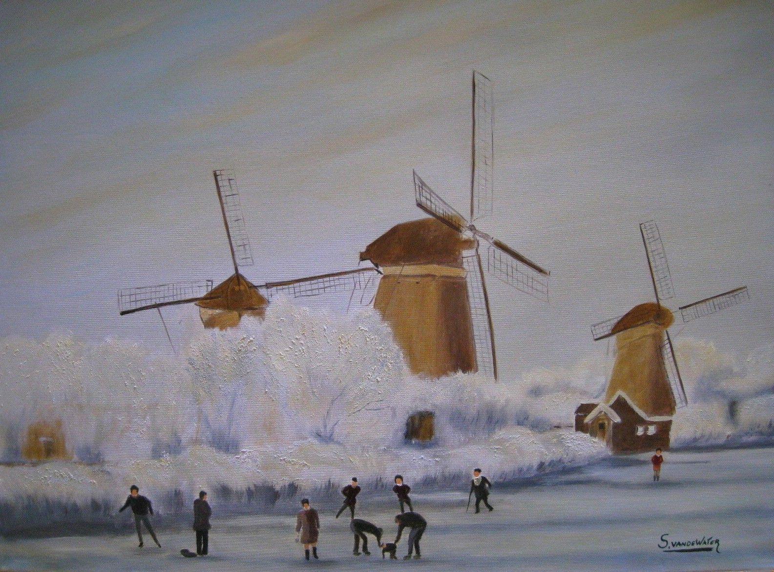 Dutch winter landscape, S. Van de Water