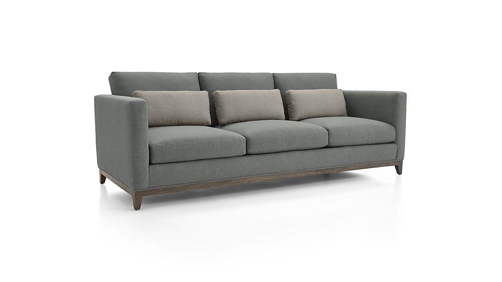Taraval 3 Seat Oak Wood Base Sofa Sofa Comfortable Sofa Oak Wood