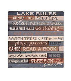 Ruff Hewn Lake Rules Trivet  sc 1 st  Pinterest & Ruff Hewn Lake Rules Trivet | Cottage | Pinterest | Casual Casual ...
