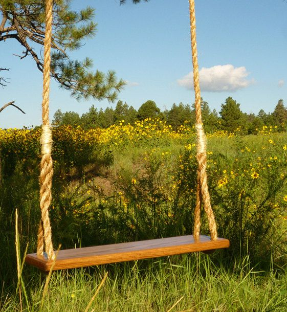 I M Giving My Kids A Rope Swing For Christmas We Ll Attach It To Our Back Deck That Hangs 15 Feet Above The Ground And Look Tree Swing Wooden Tree Swing Swing