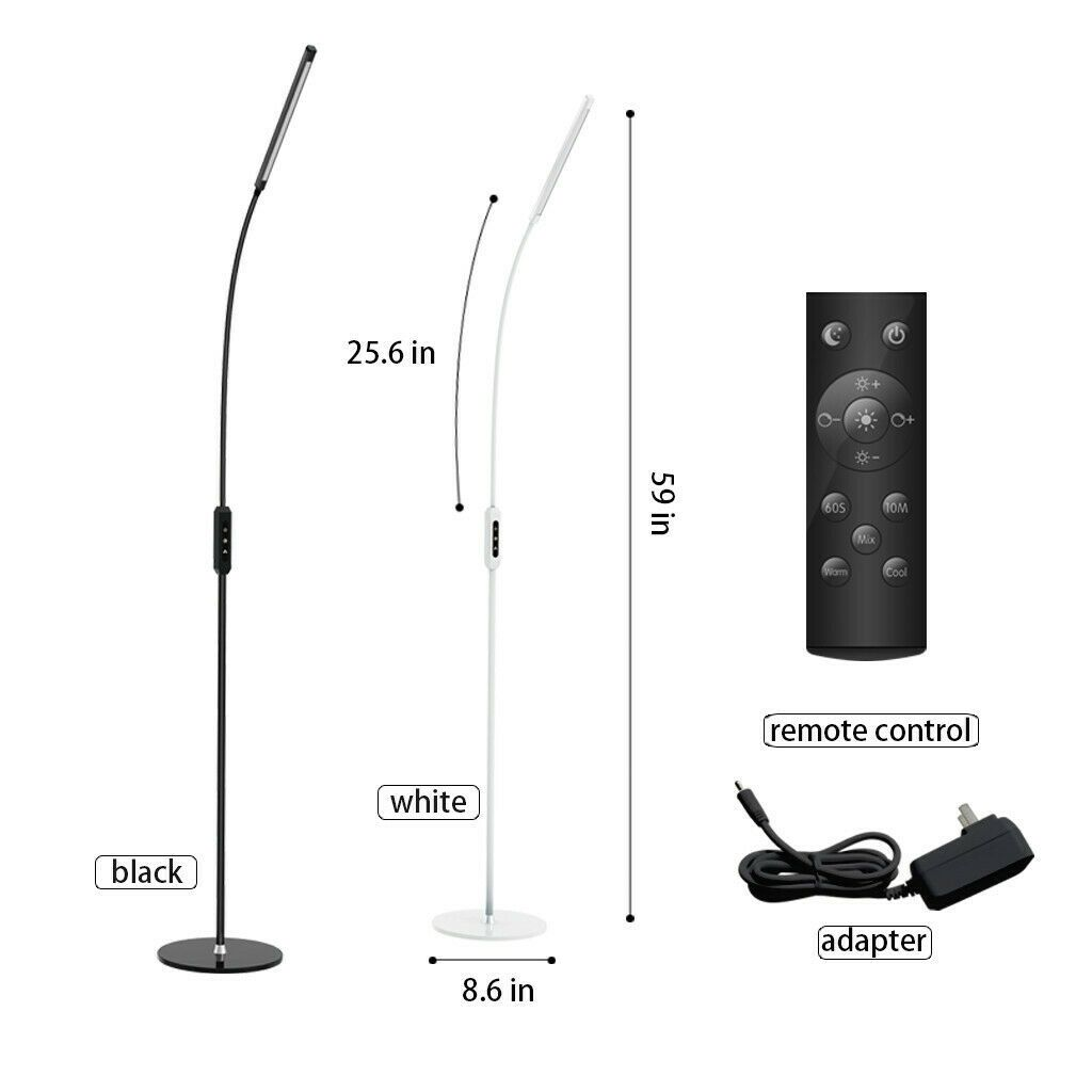 Details About Adjustable Dimmable Led Floor Lamp Light Reading
