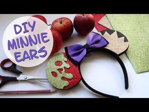 6bd7118d8 DIY Minnie Mouse Ears: Evil Queen | Disney Villains Halloween Series -  YouTube