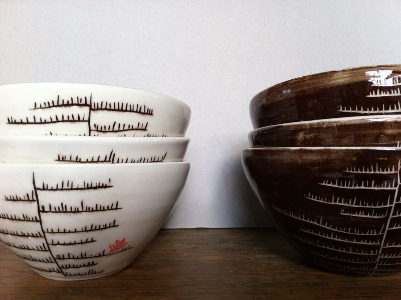 Lovely thrown stoneware bowls by Udder