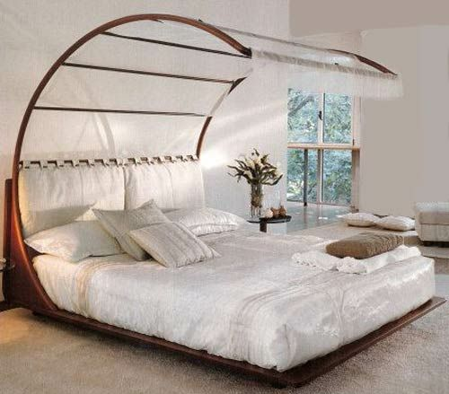 feng shui schlafzimmer ideen holz himmelbett weiß | for the home