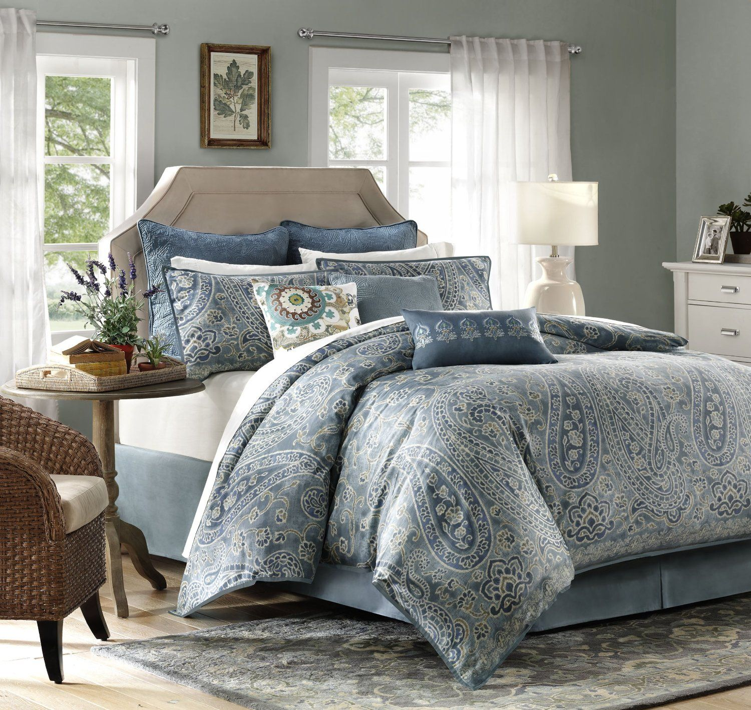 home set marcella floral amazon taupe croscill sets kitchen comforter dp com fashions king