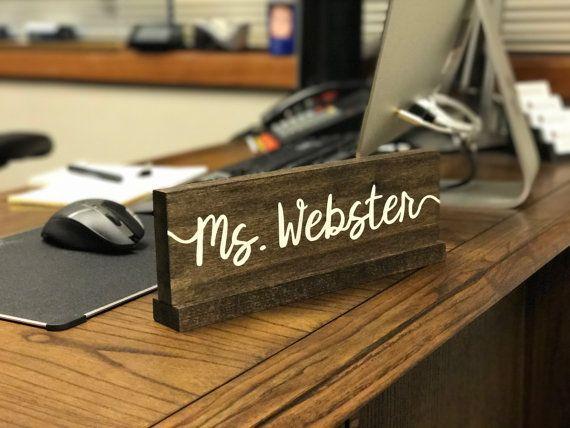 Personalized Desk Name Plate X2f Teacher Desk Sign X2f Doctor Name Personalized Desk Name Plate Teacher Name Plates Teacher Desk Signs