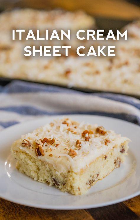 Photo of Italian Cream Sheet Cake
