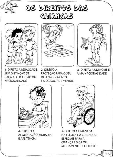 Os Direitos Da Crianca Para Colorir Direitos Das Criancas