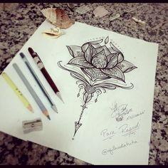 Flor de lótus que eu tive a honra de criar para Raquel. Gratidão Raquel!! Por Rodrigo Sá #ofilhodatuta ...