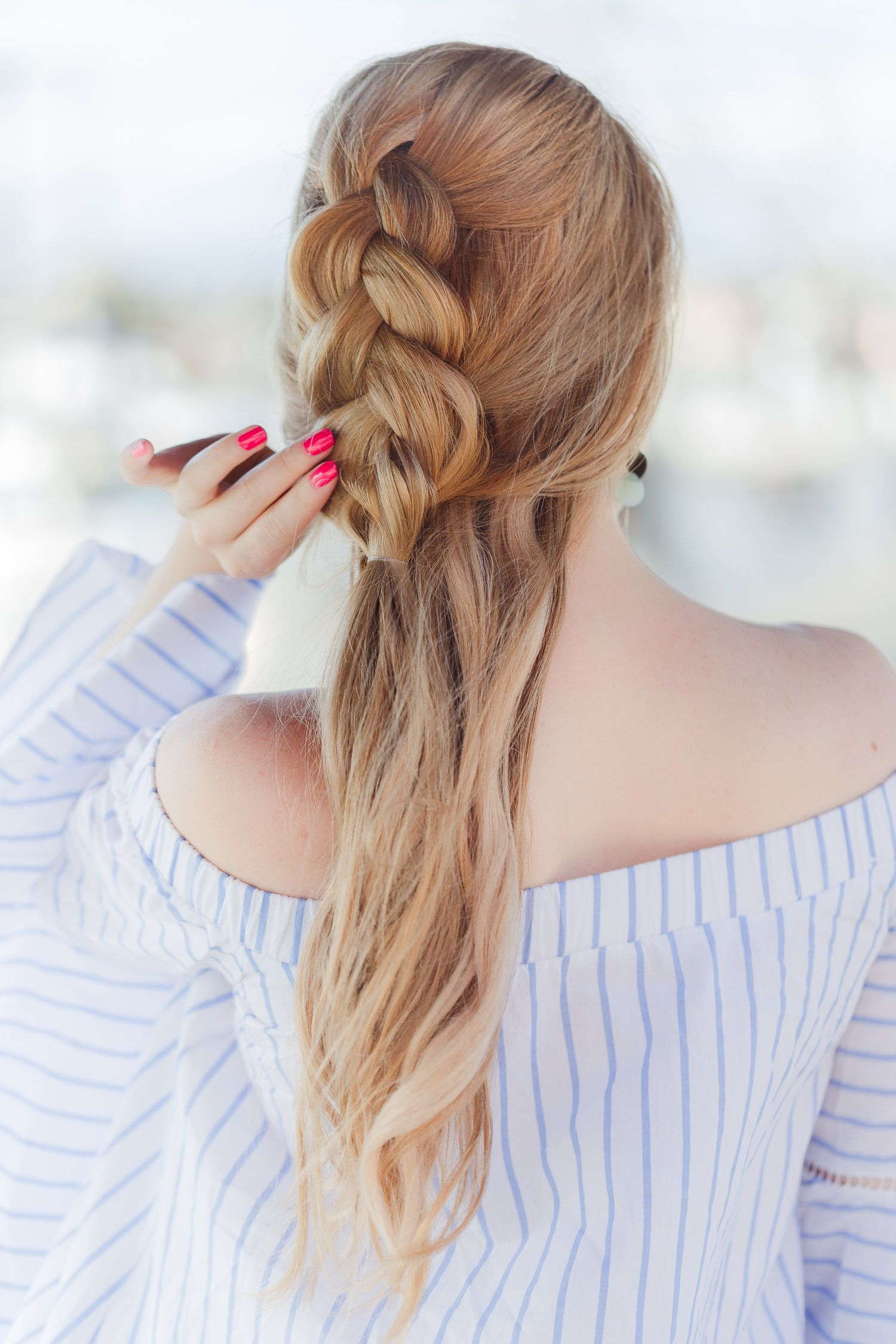 Beach Hairstyles Adorable Half Up Dutch Braid Hairstyle And Beach Walk  Design Every Day