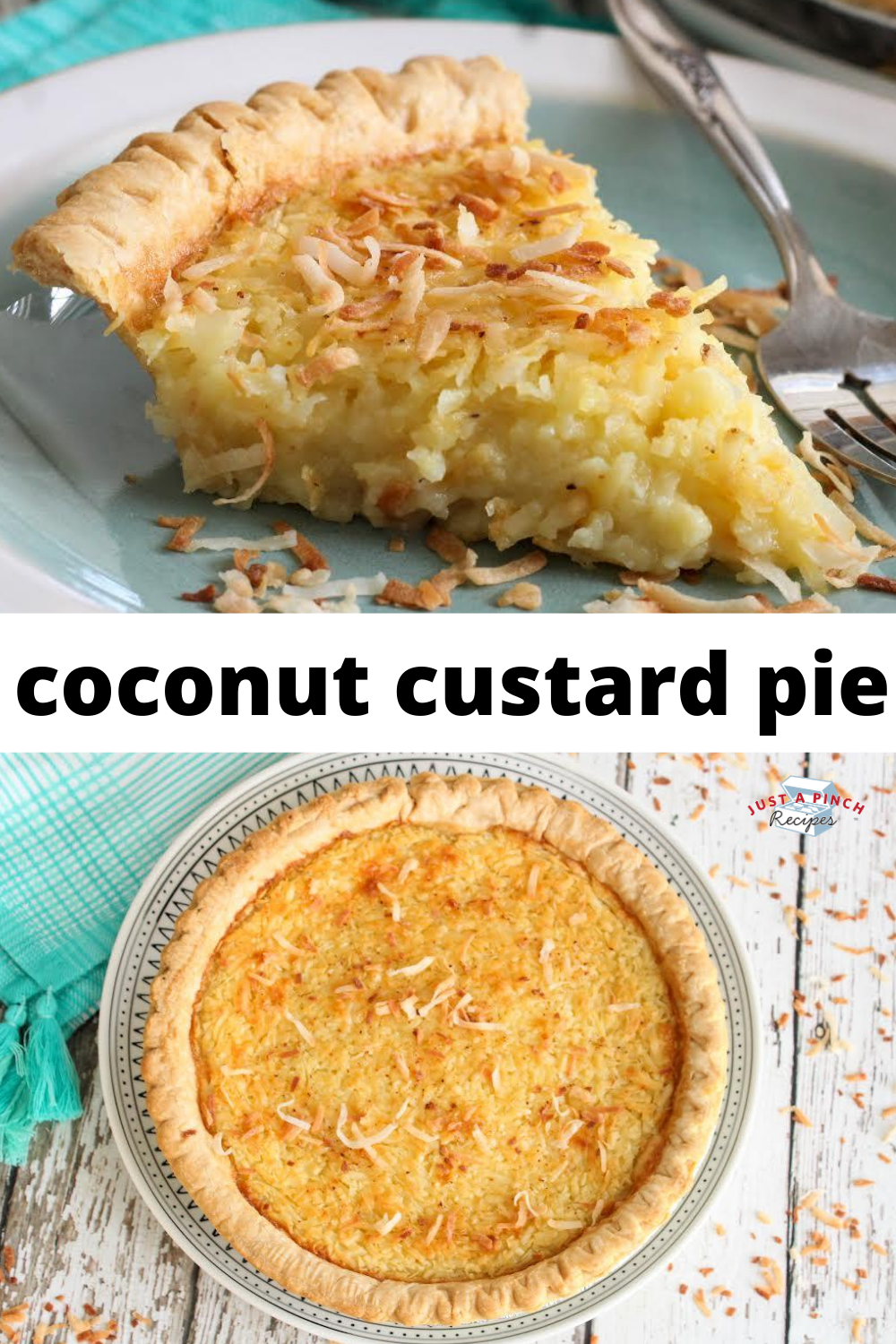 Lizzie S Coconut Custard Pie Recipe In 2020 Coconut Custard Coconut Recipes Coconut Custard Pie