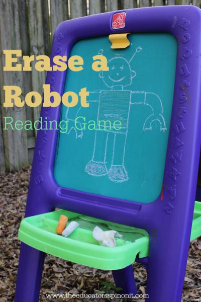 Erase a Robot Reading Game