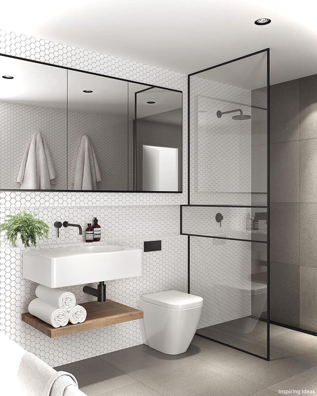 99+ Luxury Black and White Bathroom Ideas   Black white bathrooms ...