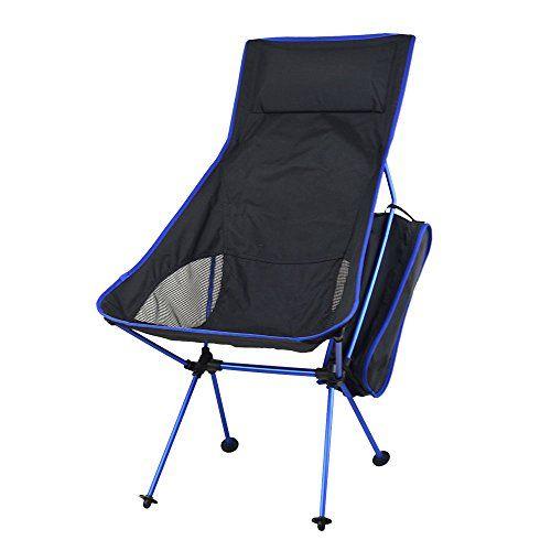 Sentexin Quik Chair Heavy Duty Portable Folding Outdoor Camping Chair Adjustable Fishing Chair For Hiking Picn Fishing Chair Outdoor Chairs Folding Beach Chair