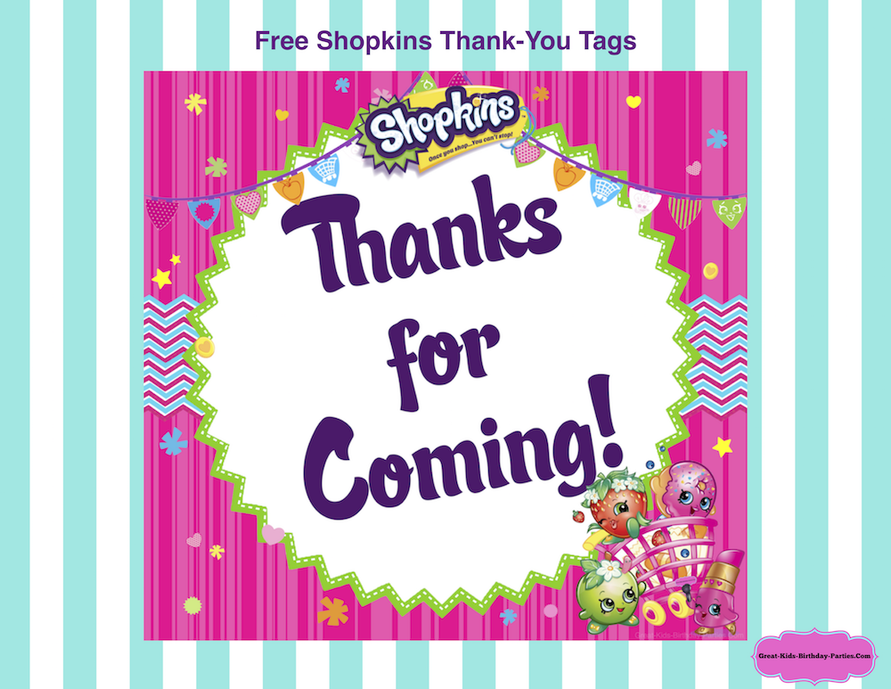 Shopkins Birthday Party Kids are crazy about these adorable – Free Printable Party Invitations for Kids Birthday Parties