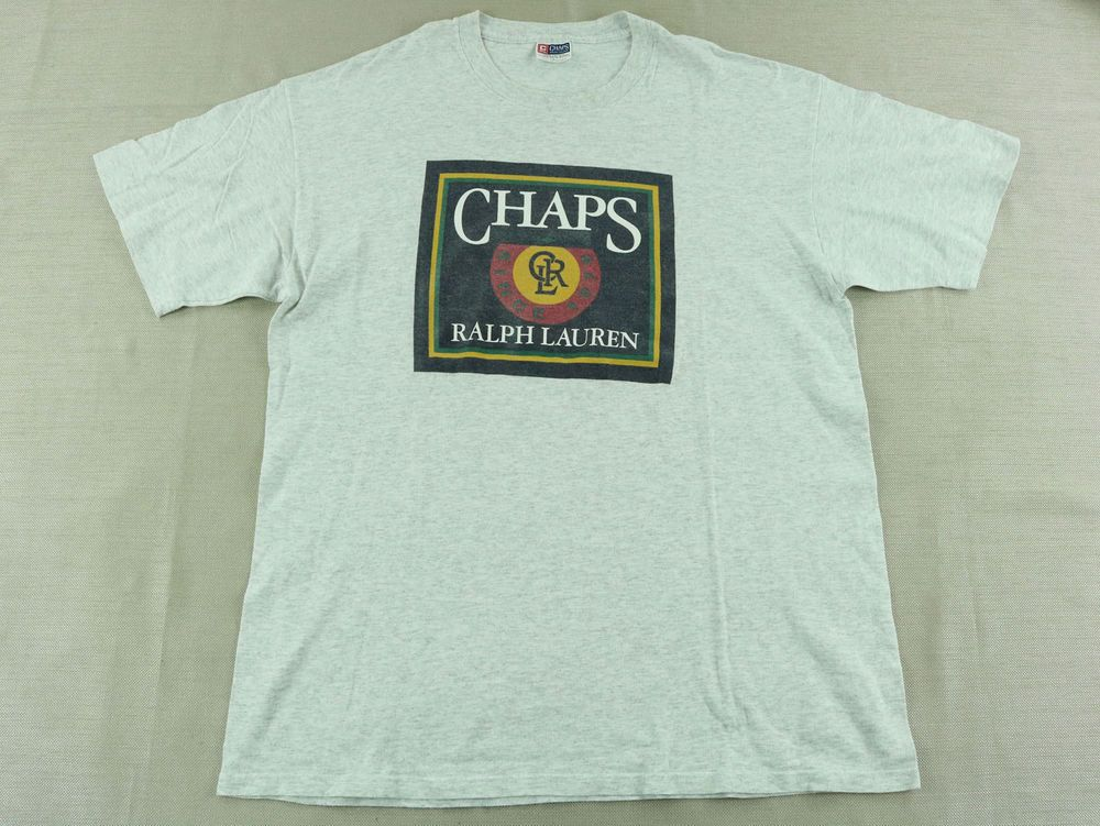 a311b1c5f Vintage Chaps Ralph Lauren Men's Gray T-Shirt Spirited Tradition on back  Size L #ChapsRalphLauren #GraphicTee