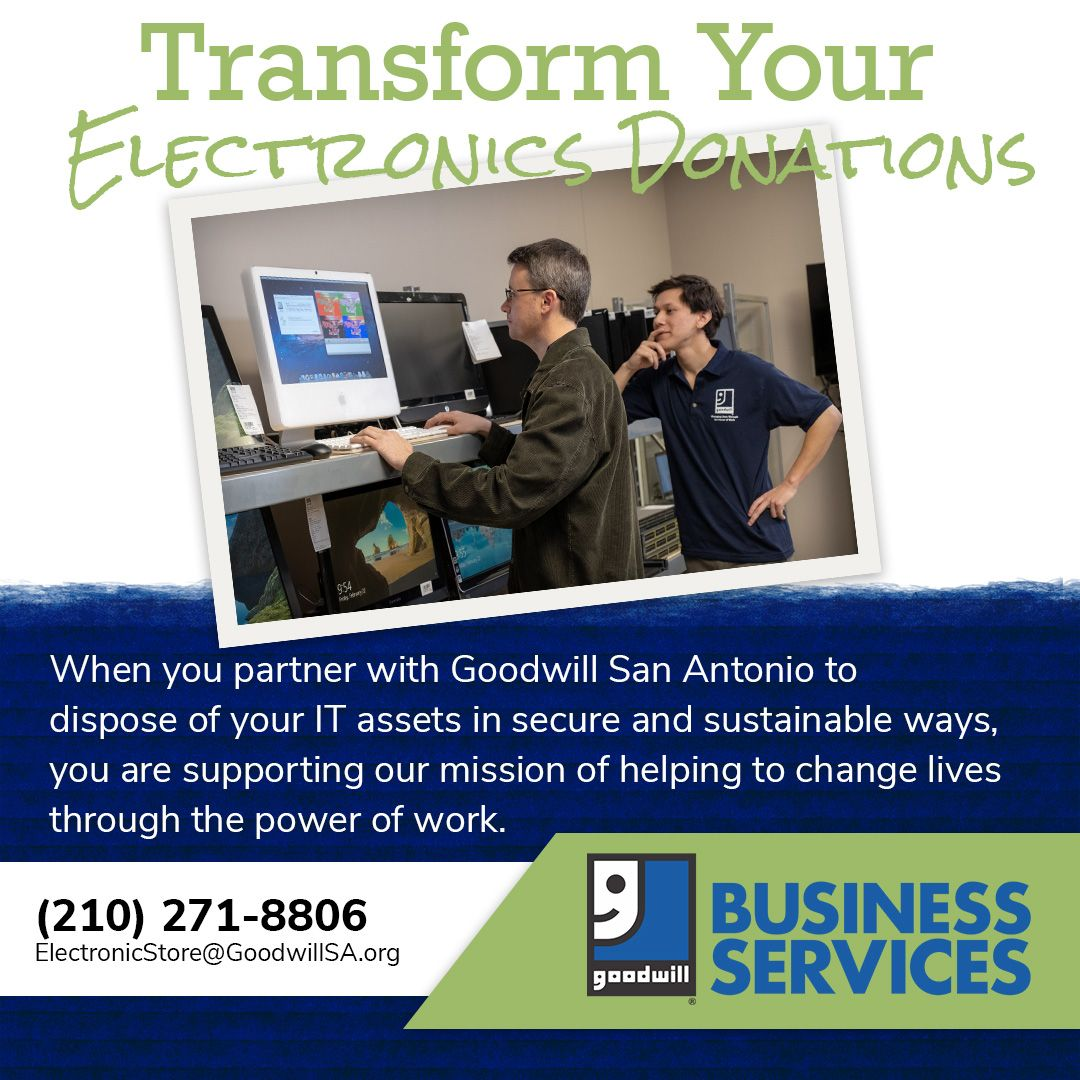 Goodwill San Antonio is a R22013 certified vendor and a