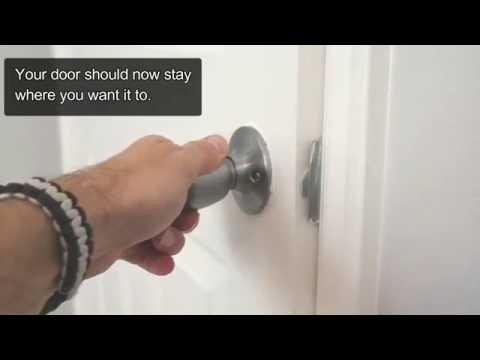 how to fix a door that keeps swinging open
