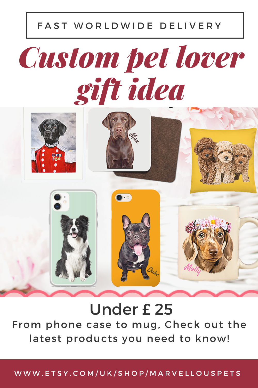 Personalised Gift For Him Or Her Best Pet Lover Gift With Worldwide Delivery Please Visit My Ets In 2020 Gifts For Pet Lovers Animal Lover Personalised Gifts For Him