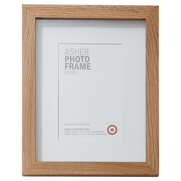 New Photo Frame Asher Wooden 10 X 15cm White Provided Wall Mount Rings New Photo Frame Frame Wall Mount
