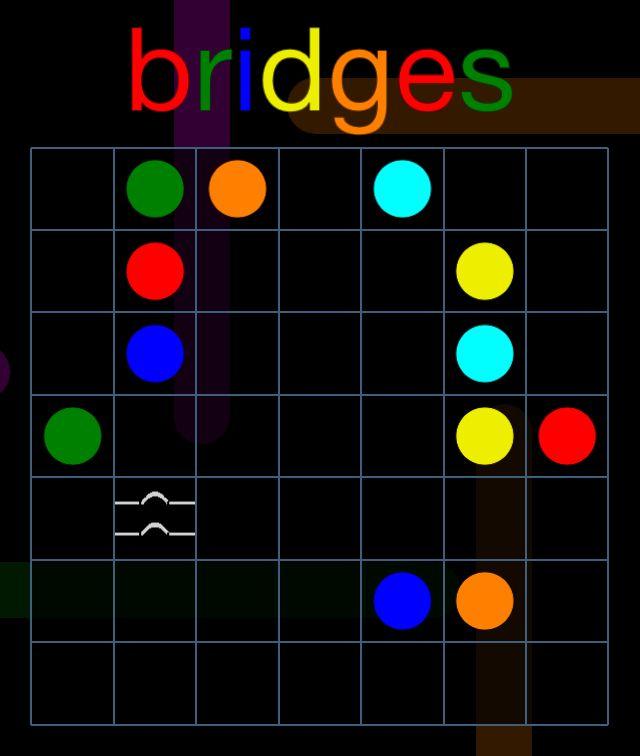제가 방금 Flow Free: Bridges에서 챌린지 팩, 7x7 레벨 6을(를) 해결했어요! 할 수 있어요?