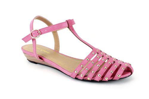 Sandalki Rzymianki W Soft Czerwone Z Mini Koturnom Damskie Duze Rozmiary Damskie Sandaly Www Andypola Pl Womens Sandals Sandals Women
