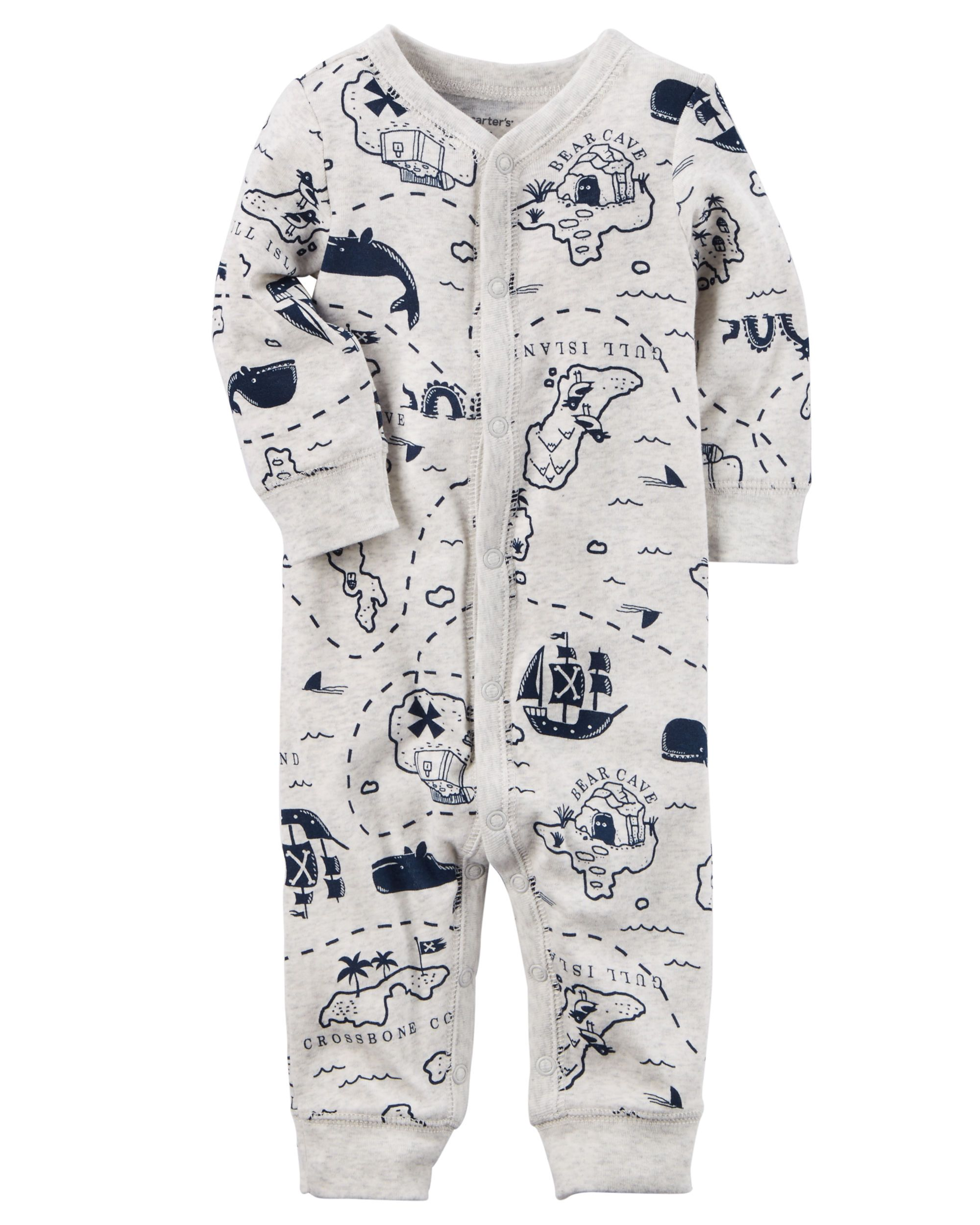 Cotton Snap-Up Footless Sleep & Play  Baby clothes, Carters baby