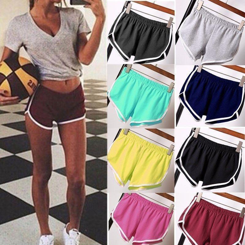Casual Women Girls Sports Yoga Gym Running Shorts Summer Beach Workout Hot  Pants 64a6e506ea95