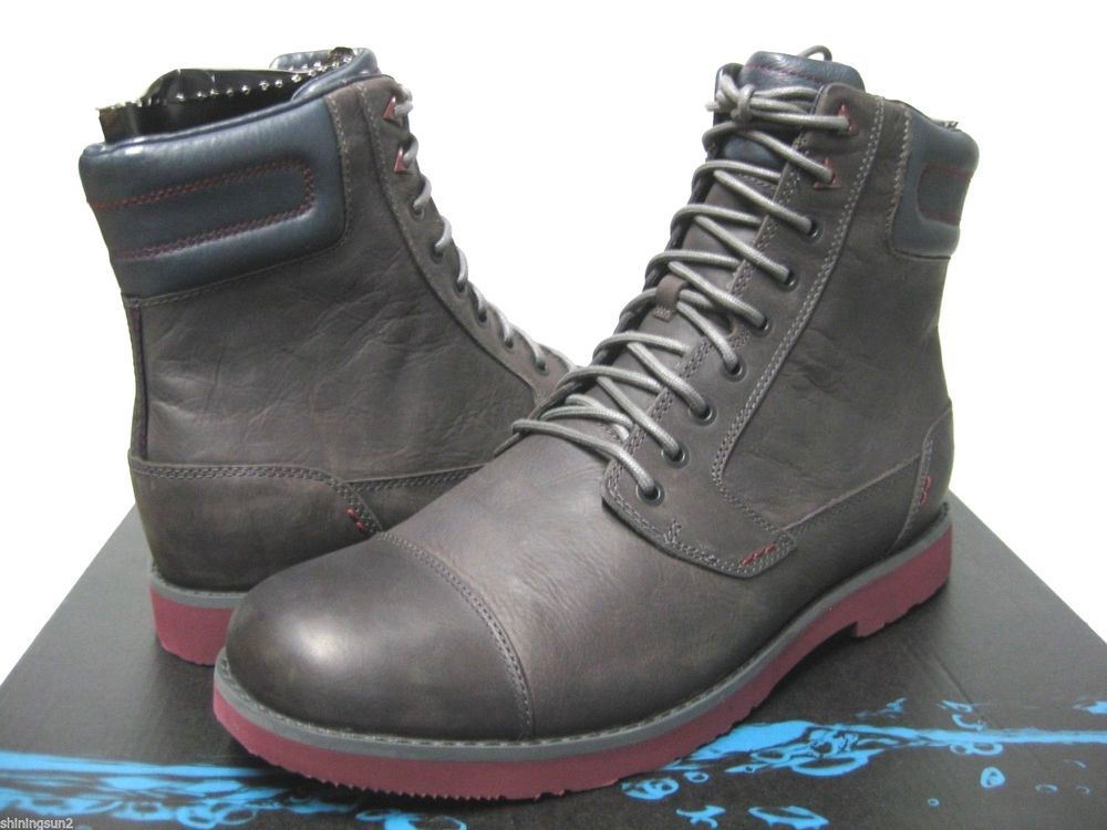 Teva Durban Tall Grey Leather Mens Boots US12/UK11/EU45.5