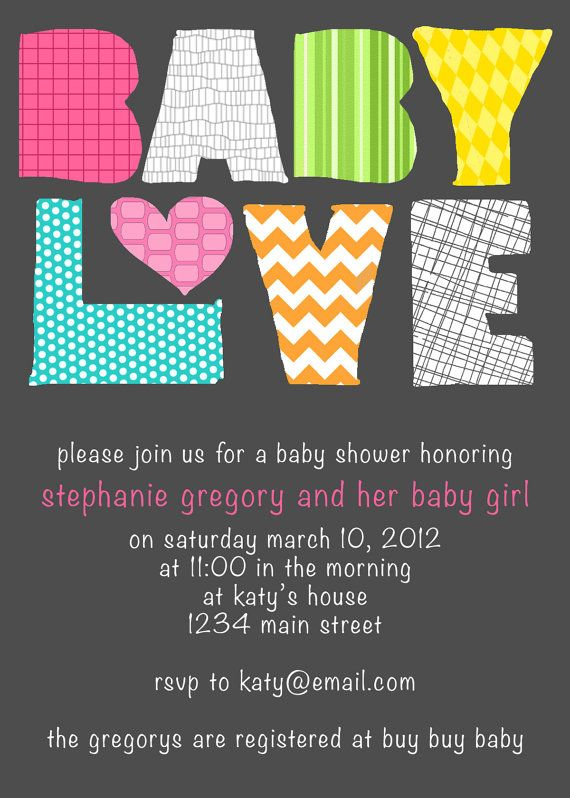 1e6e1cb51f614 Baby Love Modern Baby Shower Invitation - Girl or Boy  click photo
