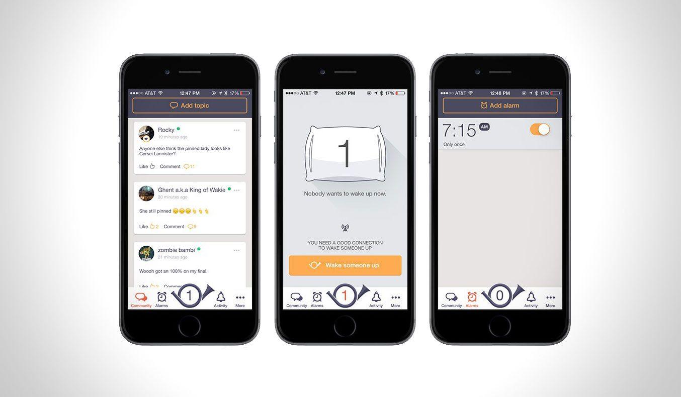 WAKIE App, Best alarm, App design