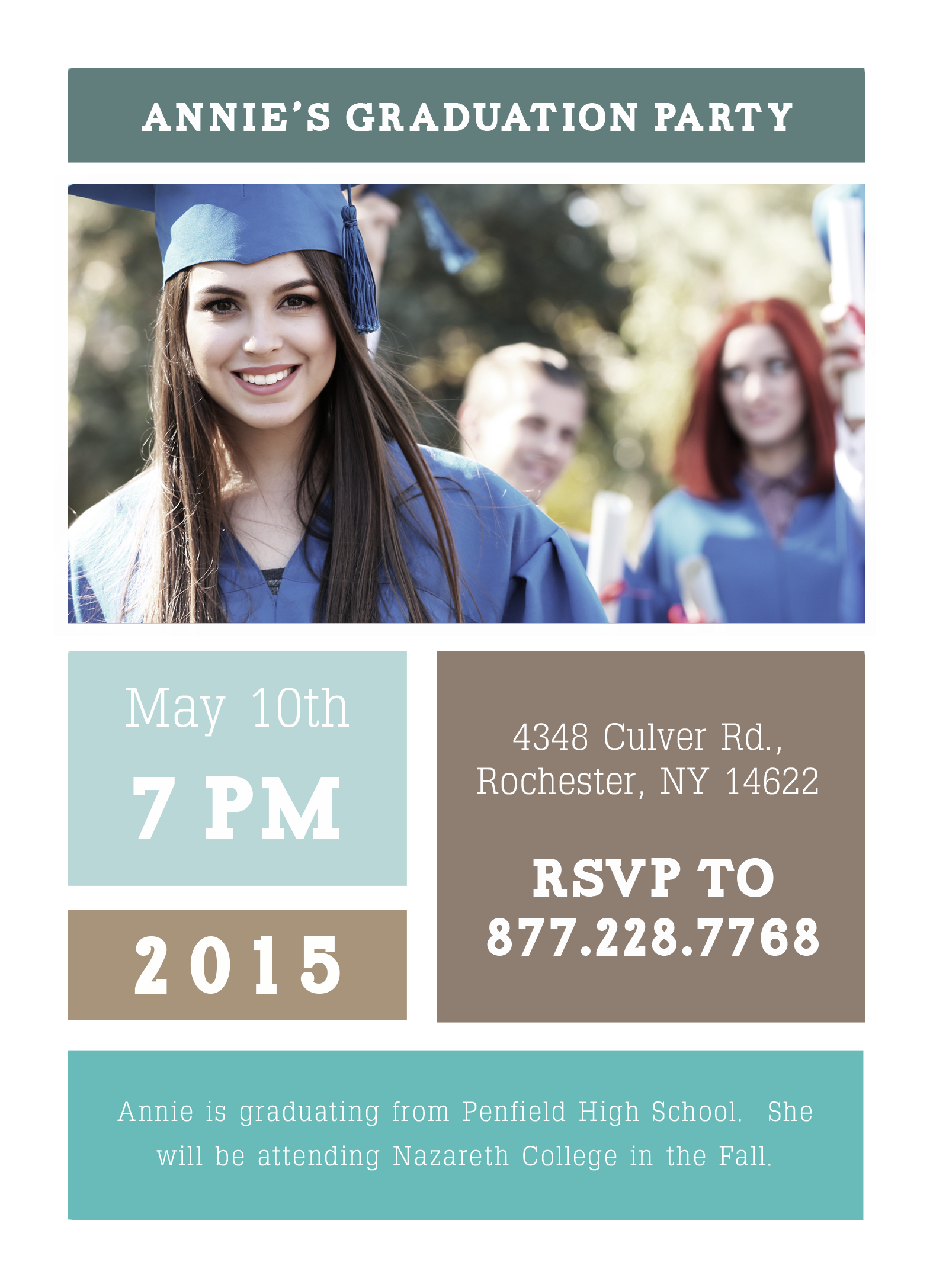 invite family and friends to your graduation party! | #graduation, Party invitations