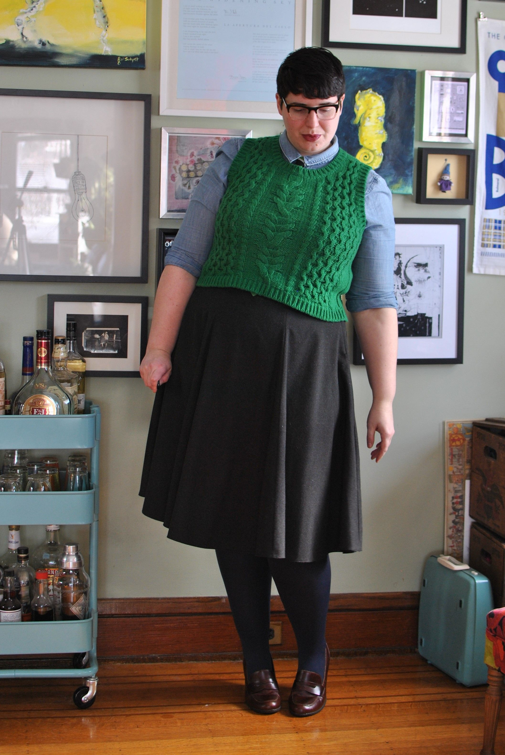 Plus size cuties with androgynous looks