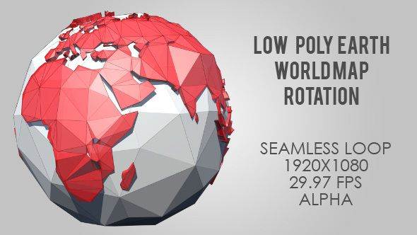 Download free low poly planet earth world map rotating red download free low poly planet earth world map rotating red continent country gumiabroncs Images