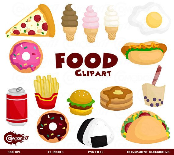 Fast Food Clipart Junk Food Restaurant Clip Art Food And Etsy