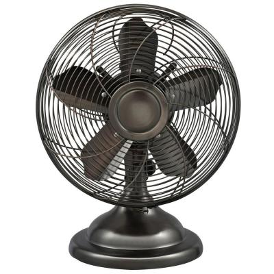 Optimus 12 In Oscillating Antique Personal Table Fan F6212 With