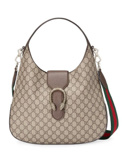 d20457794d Like new Gucci Dionysus medium superme GG Beige leather canvas two way bag.  Can be used as either a shoulder bag or a crossbody bag. Chic and stylish.