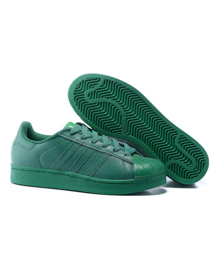 separation shoes d1c0a 6297b Adidas Originals Superstar Pharrell Williams Blaze Green S83390 Pure color  shape, very bright. like very much.