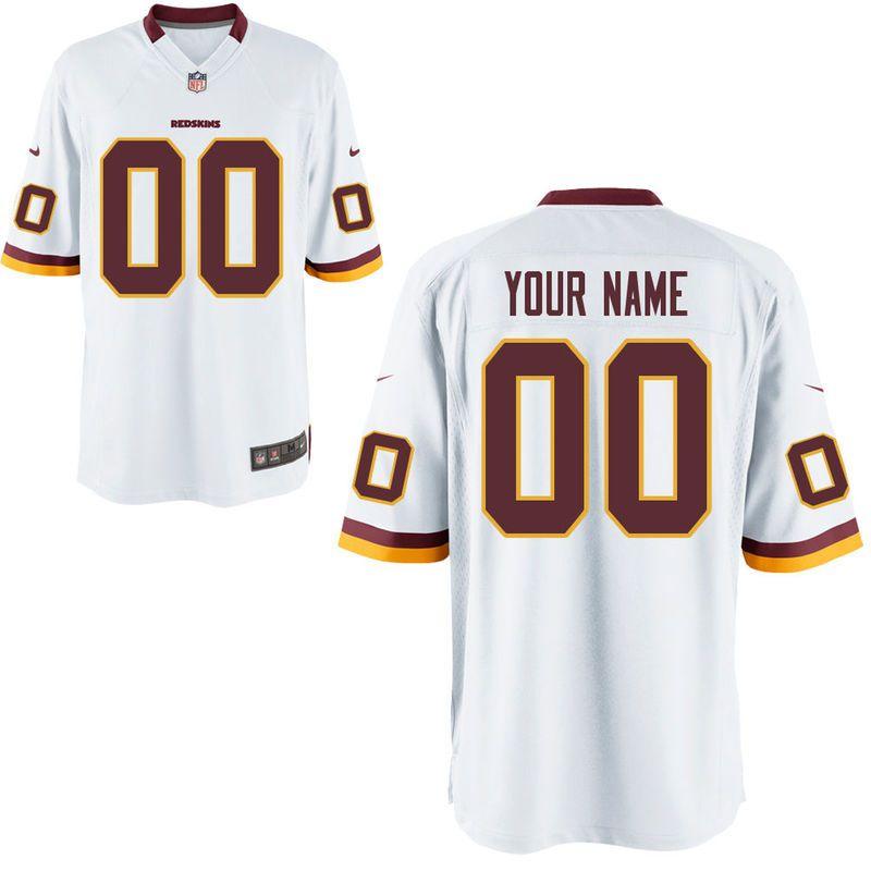 393af40de9b Nike Men's Washington Redskins Customized Game White Jersey ...