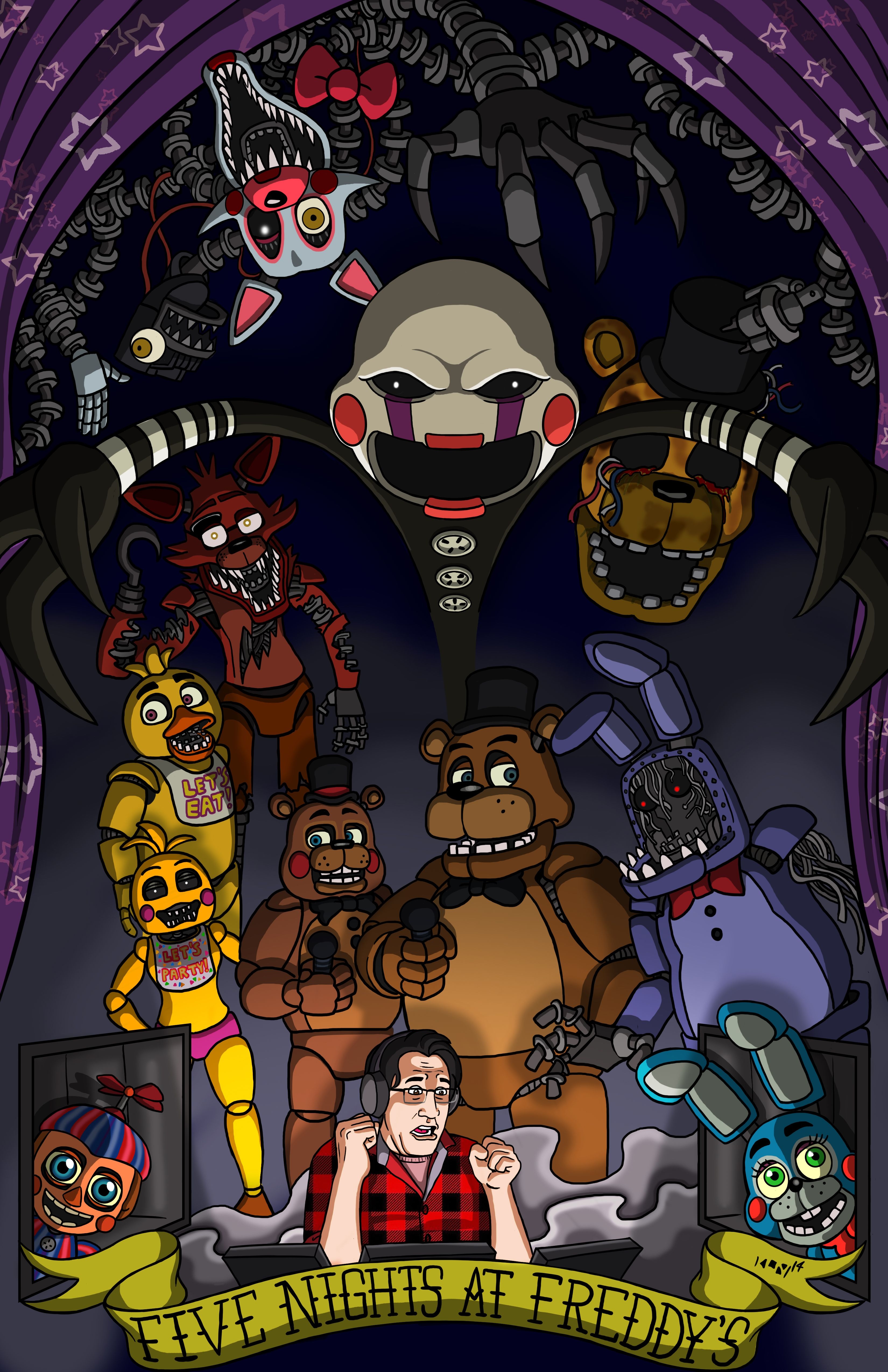 Markiplier Fnaf, Sister Location, Five Nights At Freddys, Freddy S,