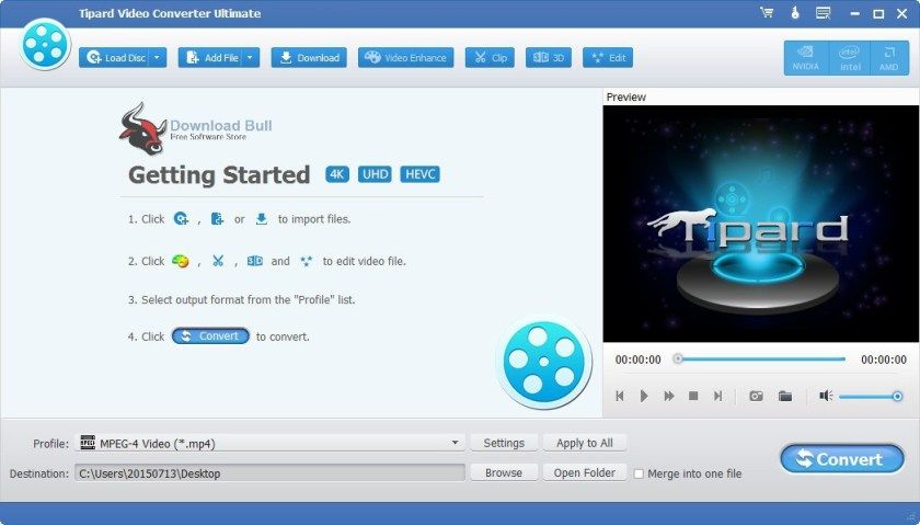 Portable Tipard Video Converter Ultimate 9 2 Free Download Video Editing Software Free Video Editing Software Video Converter