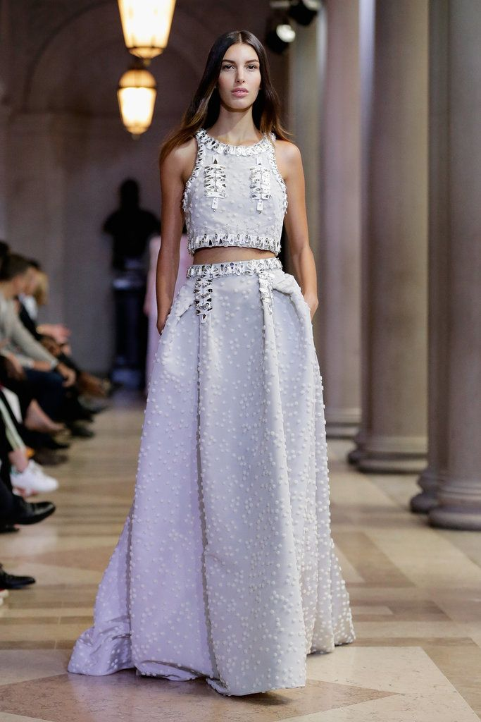 36 Runway Gowns Any Nontraditional Bride Will Obsess Over Street FashionTwo Piece DressWedding