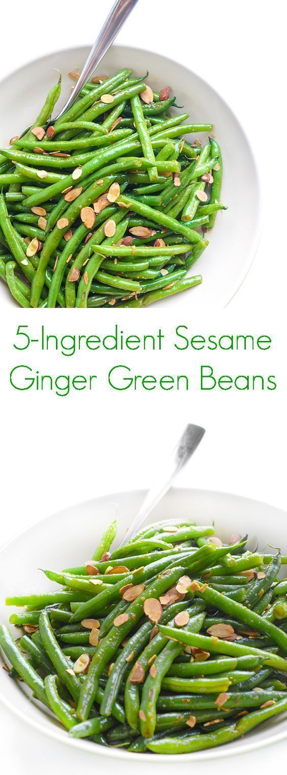 5Ingredient Sesame Ginger Green Beans Recipe  The Lemon Bowl 5Ingredient Sesame Ginger Green Beans Recipe  A twist on your favorite side dish for your lunch and dinner me...