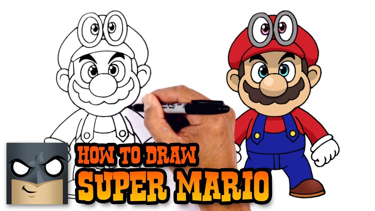 8 22 17 How To Draw Super Mario How To Draw Mario Cartooning 4 Kids Kids Painting Crafts