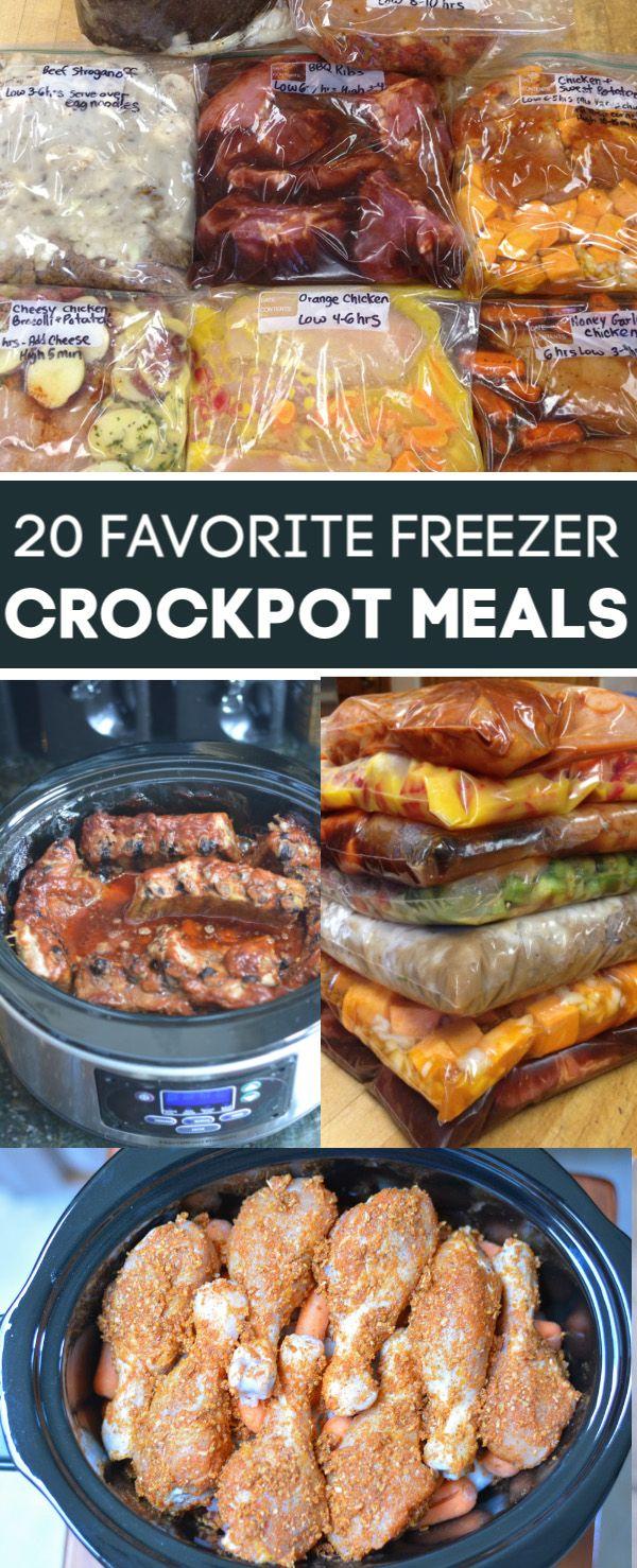 20 Crockpot Meals - Our Favorite Freezer Crockpot Recipes #meals
