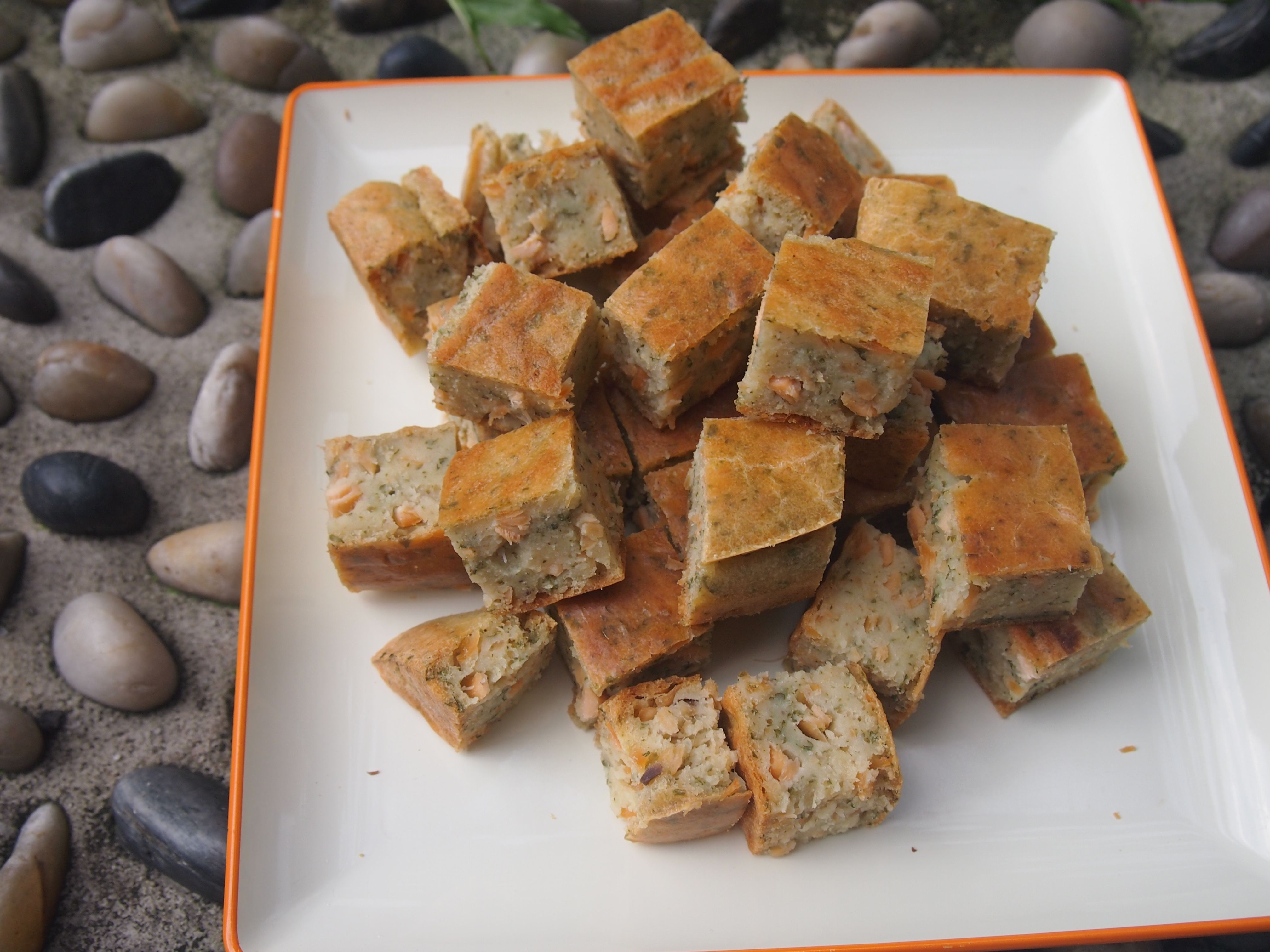Wheat Free Salmon Fudge with parsley. Soft texture. Great