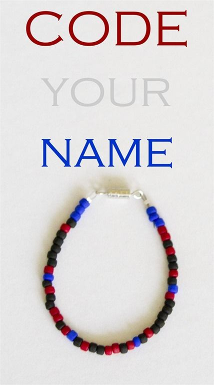 Did you know that you can use beads to write your name in the ASCII Binary