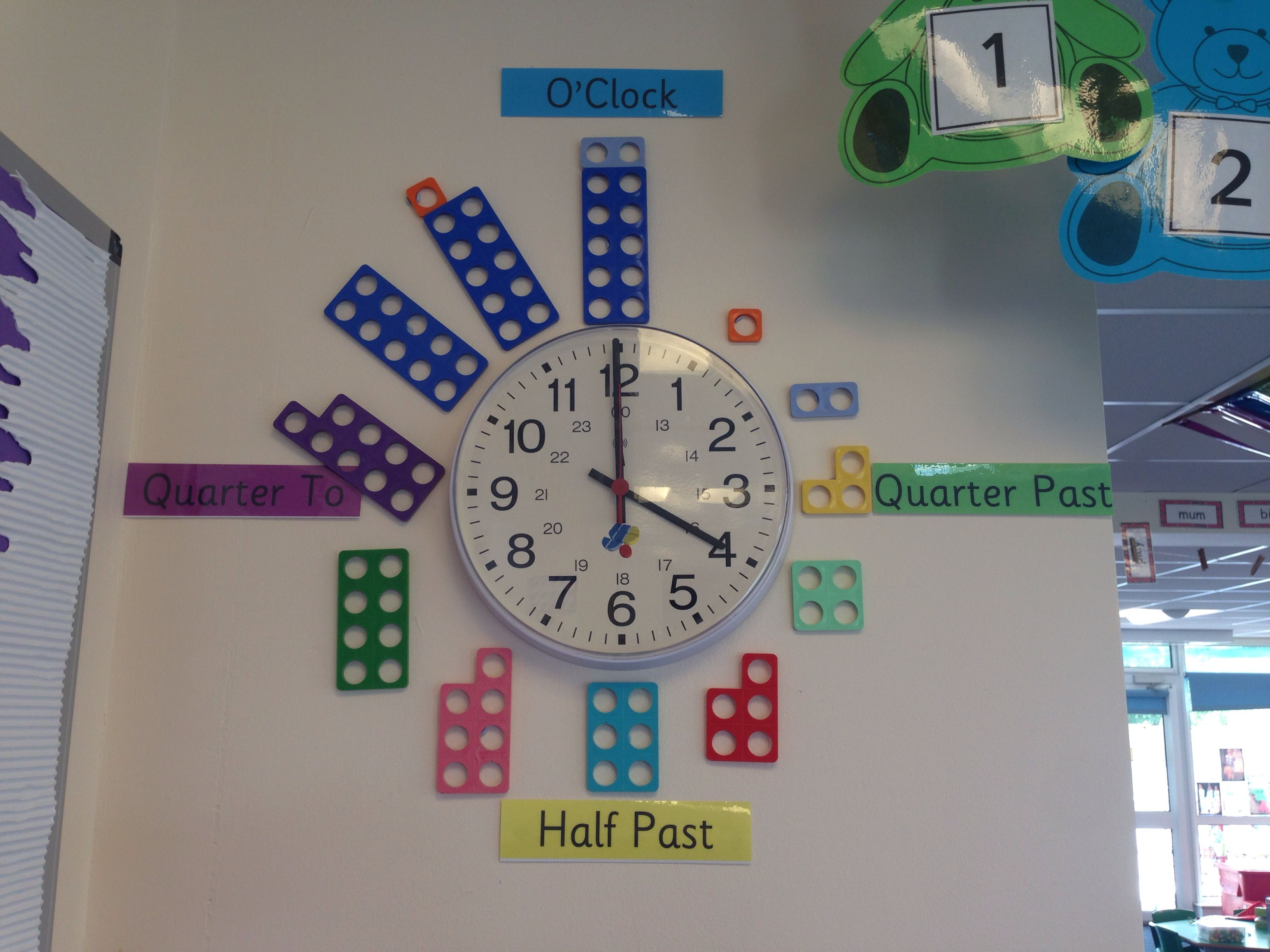 Using The Numicon To Add To The Clock Visual Prompts