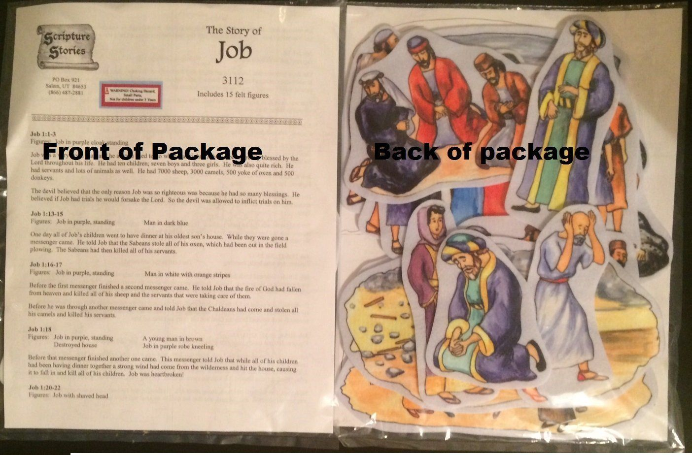 The Story of Job Felt Figures for Flannel Board Bible