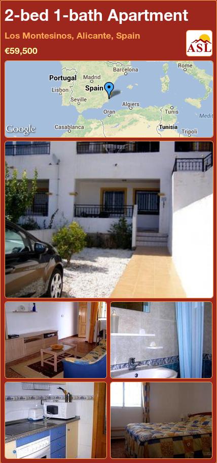 2-bed 1-bath Apartment in Los Montesinos, Alicante, Spain ►€59,500 #PropertyForSaleInSpain